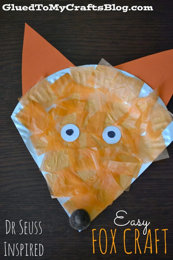 Fox in Sox art project for Dr. Suess' Birthday Celebration!