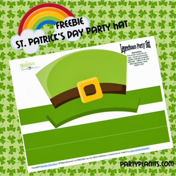 Free printable St. Paddy's Day hat.