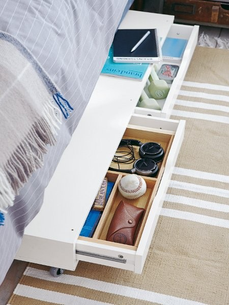 Bedtime Essentials Storage from IKEA! Genius for keeping those things you might need at night!