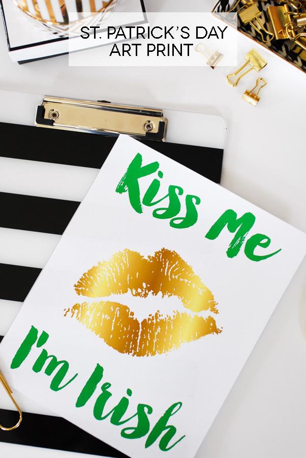 St. Patrick's Day art print - Kiss Me I'm Irish