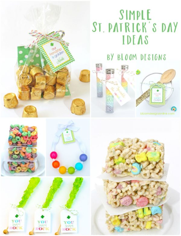 St. Patrick's Day free printable gift tags.