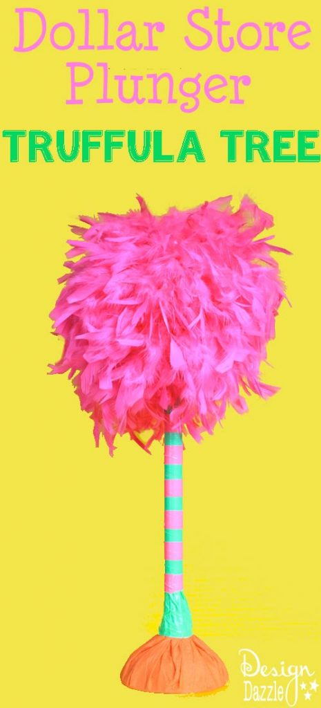 Celebrate Dr. Suess' Birthday with a Truffle Tree Craft! Easy DIY with a dollar store plunger!!