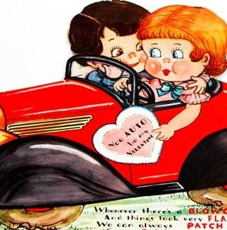 Vintage Car Valentine – You Auto Be My Valentine!