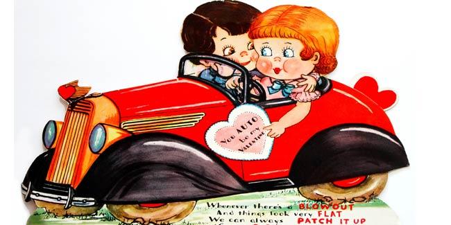 Vintage Valentine - You AUTO Be My Valentine - Design Dazzle