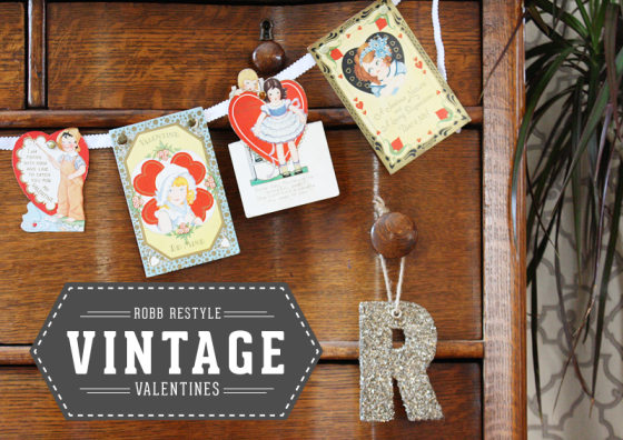 Vintage Valentine Banner! Perfect Idea for Valentine Decor!