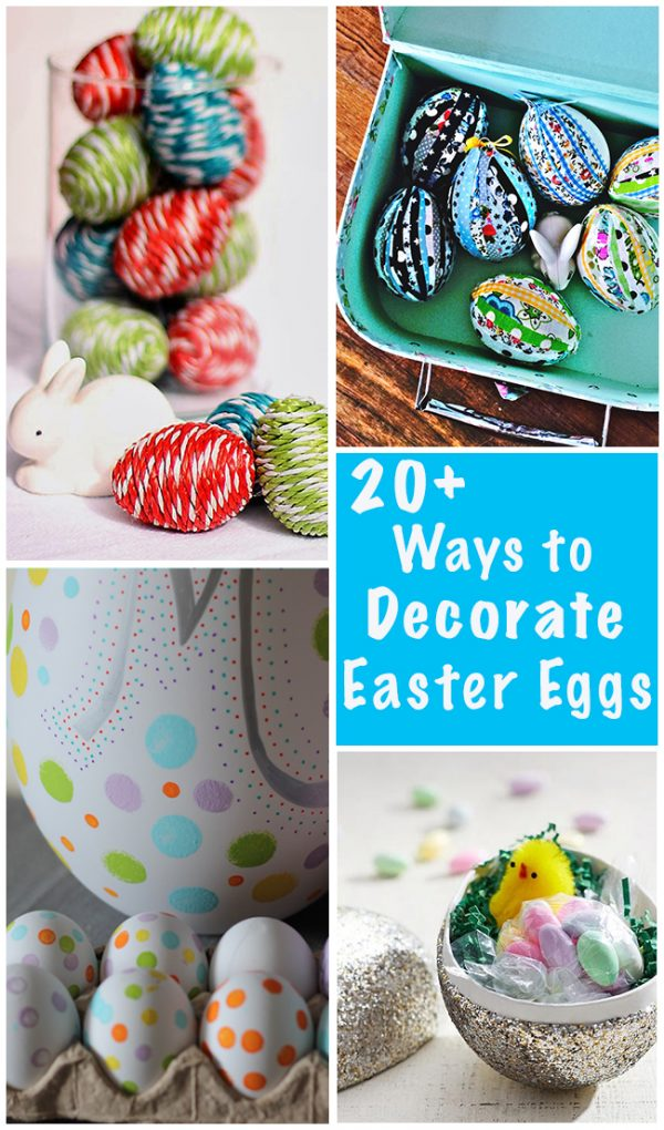 20+ Ways to Decorate Easter Eggs for this Year's Basket! Fabulous Ideas on decigndazzle.com!