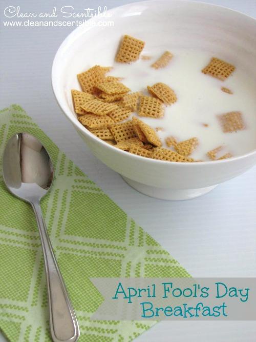 Frozen Breakfast April Fool's Prank Idea