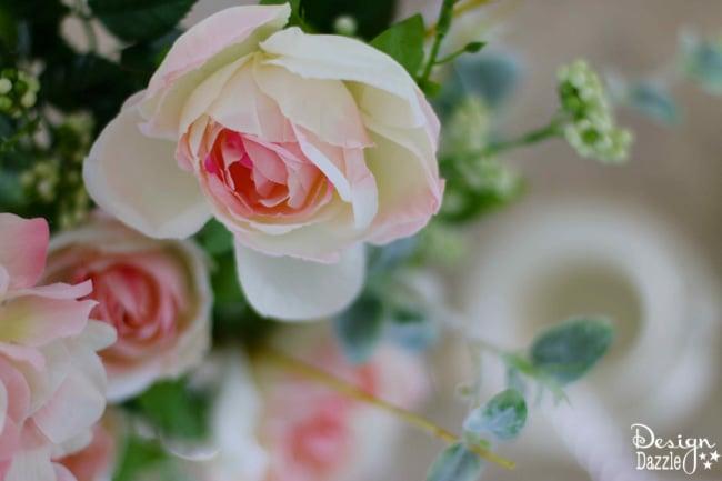 Floral arrangement for a spring tea party. Design Dazzle