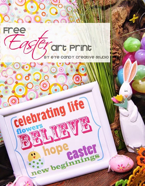 Colorful Easter Printable! Celebrate Easter with this FREE Printable!