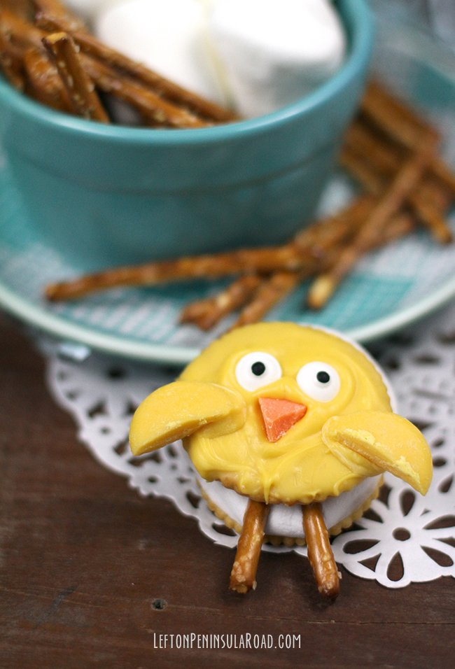 These Easter Chick S'mores would make an adorable Easter Treat!