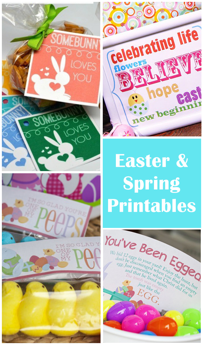 Free Easter and Spring Printables. Find them all at Design Dazzle.