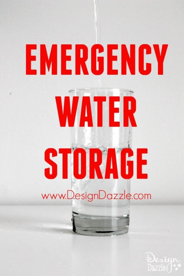 Emergency Water Storage. Are you prepared for you family? You can't live long without water. Please get prepared today! www.DesignDazzle.com