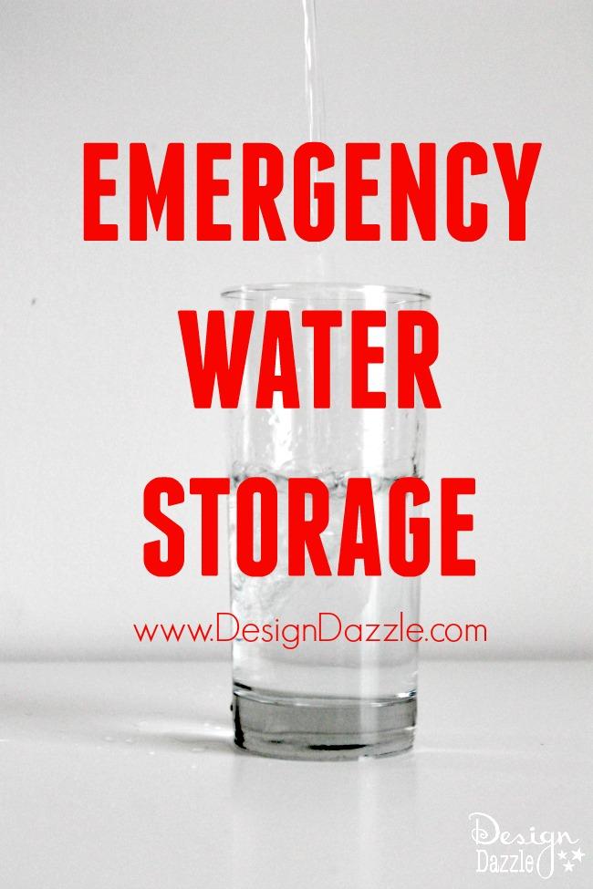 Emergency Water Storage www.DesignDazzle.com