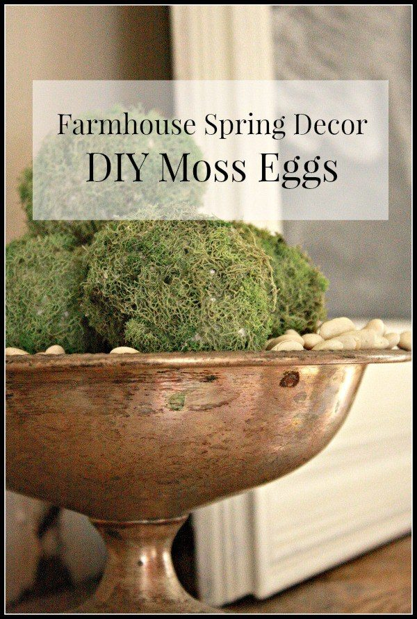 Farmhouse Decor DIY Moss Eggs