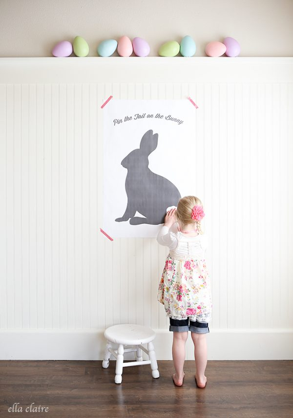 Pin the Tail on the Bunny perfect for this Easter Season! Best part is the FREE printable!