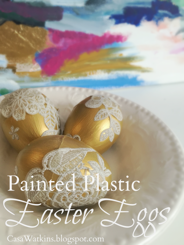 Gold Painted Plastic Easter Eggs! 20+ Creative Ways to Paint Easter Eggs on decigndazzle.com!