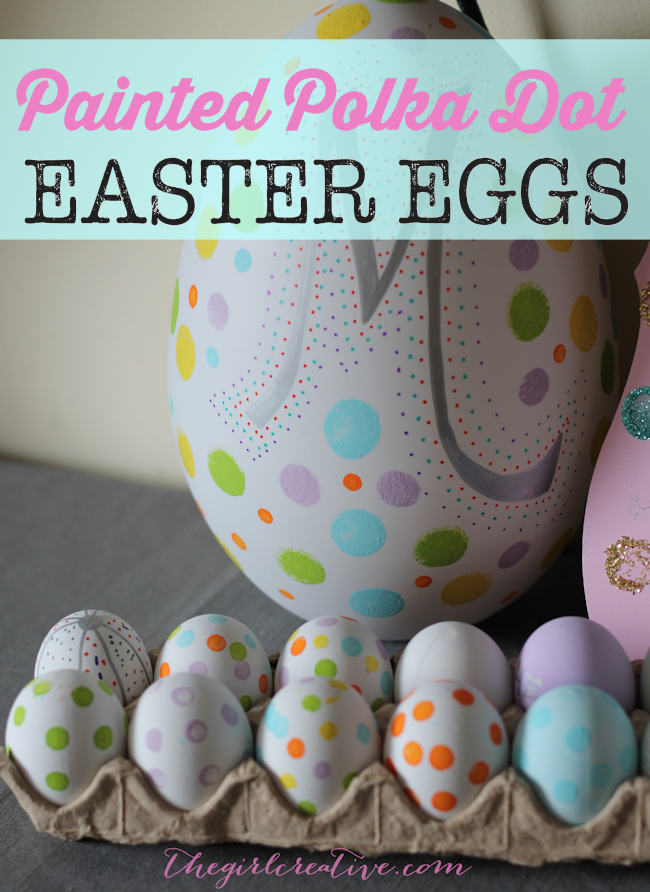 Painted Polka Dot Easter Eggs! 20+ Creative Ways to Paint Easter Eggs on decigndazzle.com!