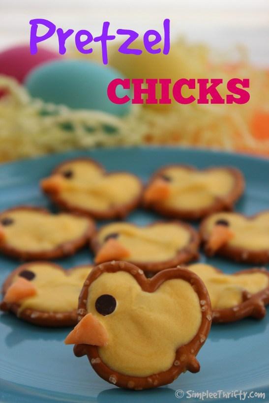Preztel Chicks make a sweet Easter treat.