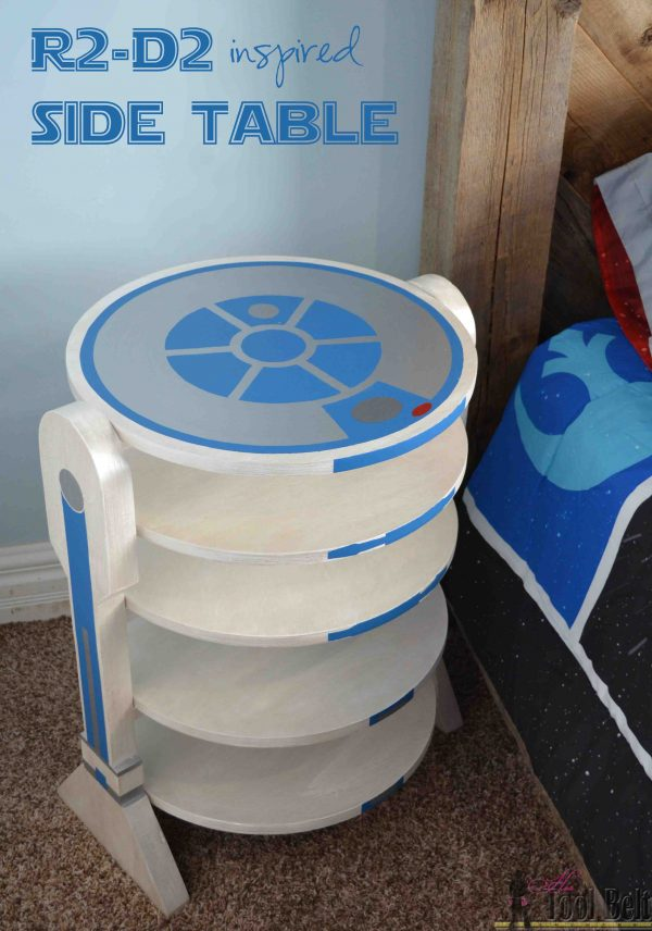 Build an R2-D2-inspired side table.
