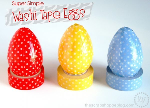 Washi Tape Eggs! 20+ Creative Ways to decorate Easter Eggs on decigndazzle.com