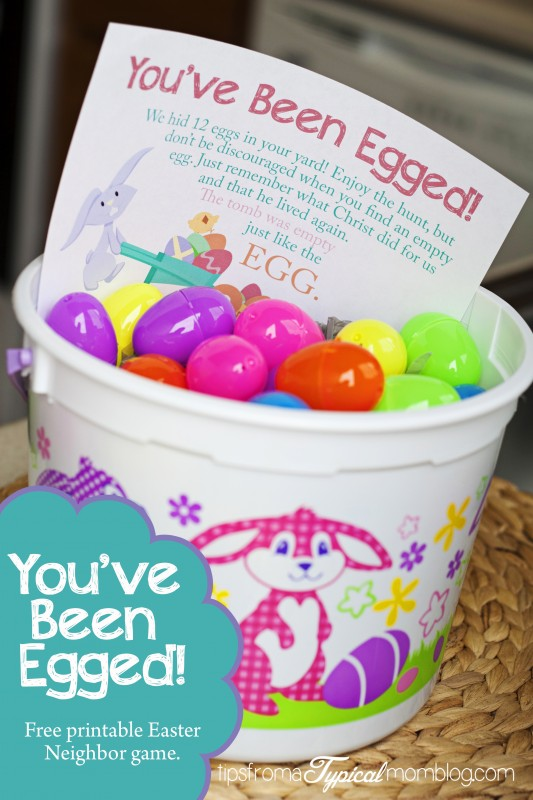 FREE Easter and Spring Printables: You've Been Egged Neighborhood Party!