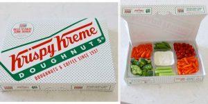 April Fools Donut Veggie Box - Design Dazzle