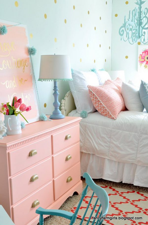 Polka dot bedrooms for kids design dazzle for Polka dot bedroom ideas