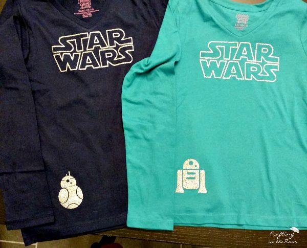 Glitter Star Wars Shirt Tutorial