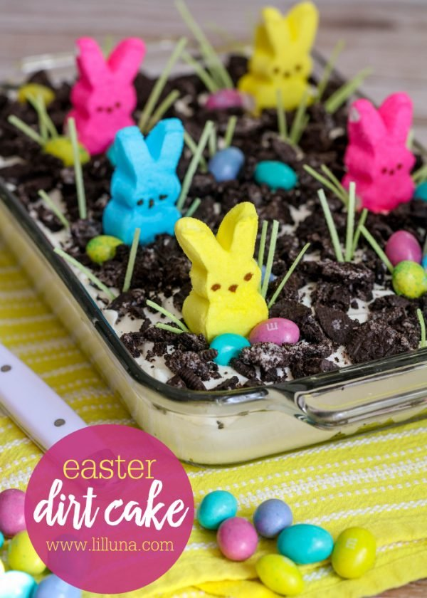 Easter Dirt Cake for dessert!