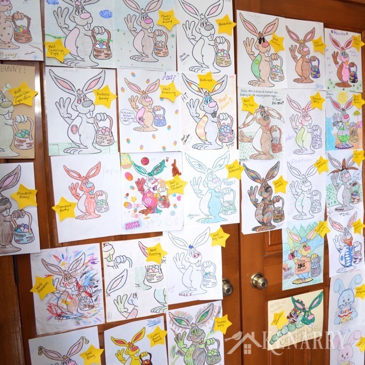 Easter Traditions to start with your family this year! Easter Bunny coloring contest! www.DesignDazzle.com