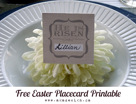 He is Risen Free Easter Placard Printable!! Perfect for Easter Dinner!