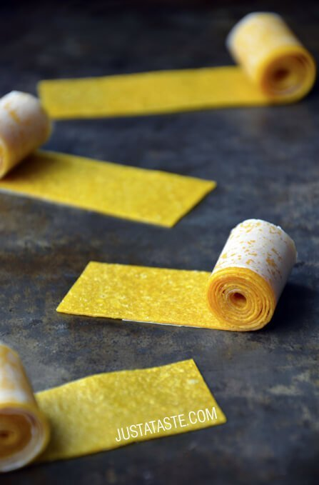Mango Fruit Roll Up Recipe for a healthy homemade snack
