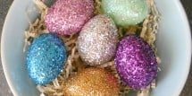 Decorate Easter Eggs with Glitter