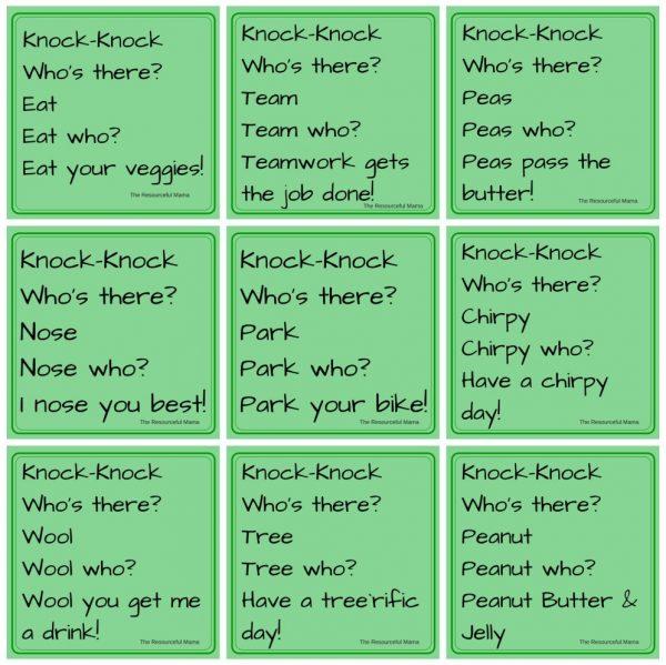Printable Knock Knock Jokes