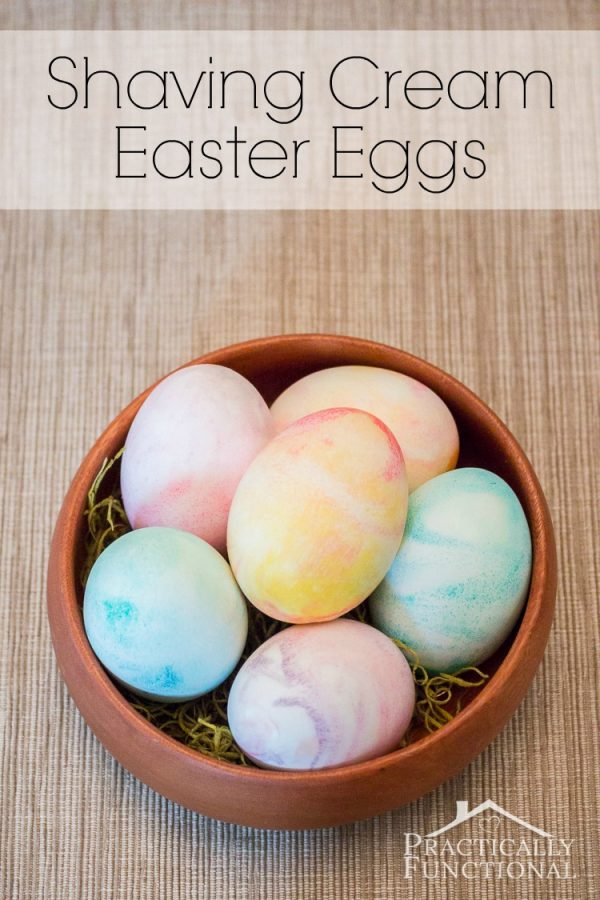 Marbled Shaving Cream Decorated Eggs