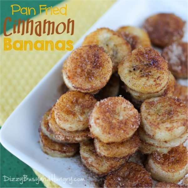 Pan Fried Cinnamon Bananas are perfect healthy after school snack!