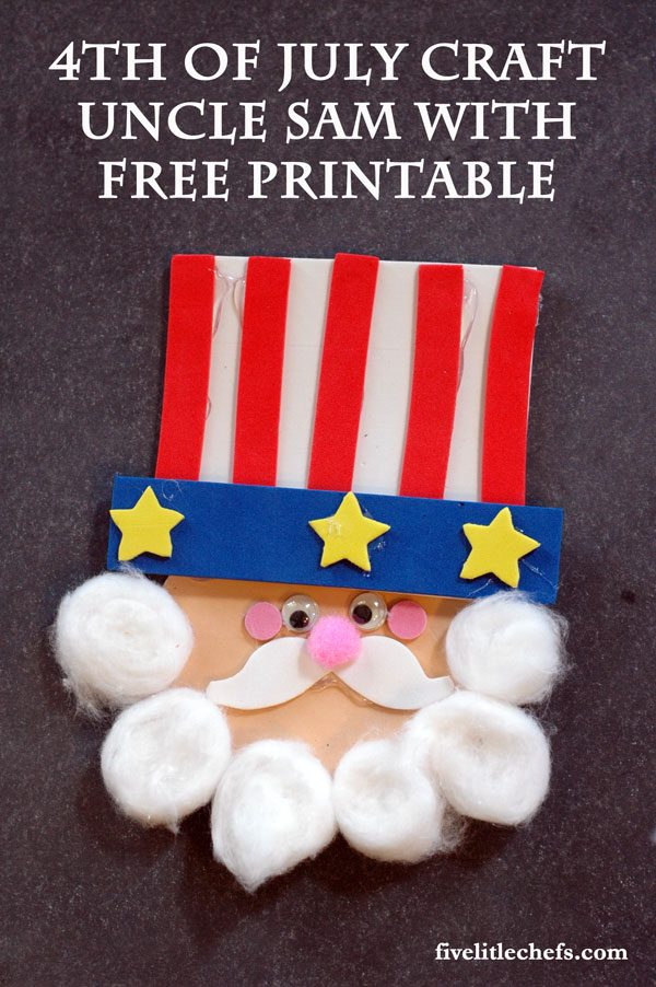 Uncle Sam Craft with FREE Printable!! Perfect for this 4th of July!