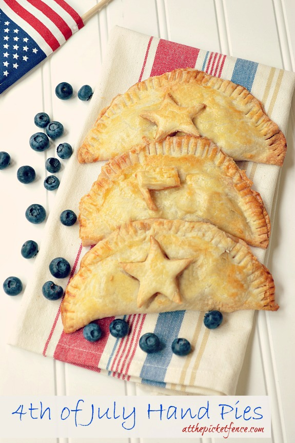 4th of July Hand Pies! Perfect for an Independence Day Celebration!