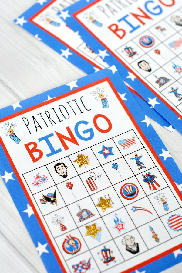 Patriotic BINGO for the littles!! {FREE PRINTABLES}