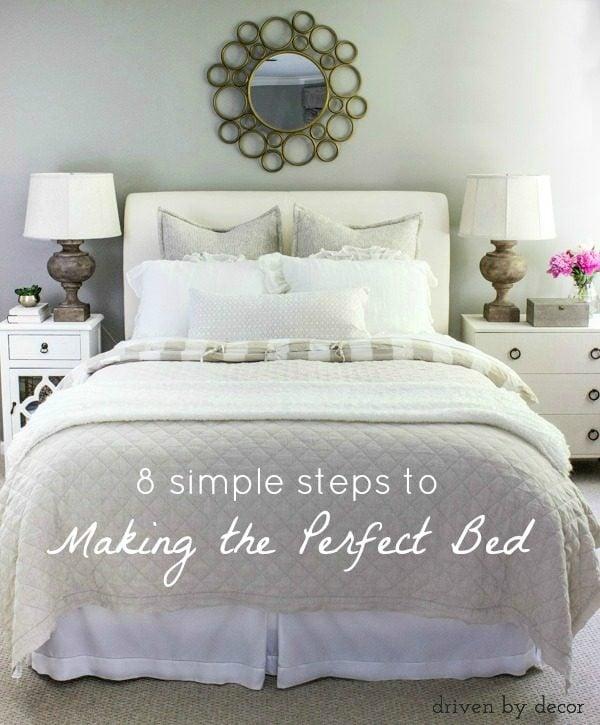 Bedroom Pillow Arrangement