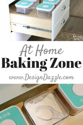 Organizing your baking zone