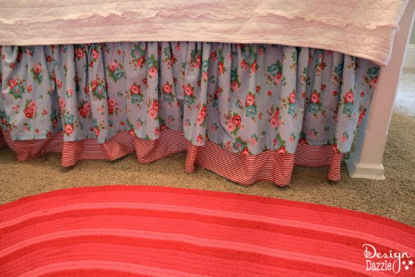 Ruffled Bedskirt in Shabby Chic Guest-room