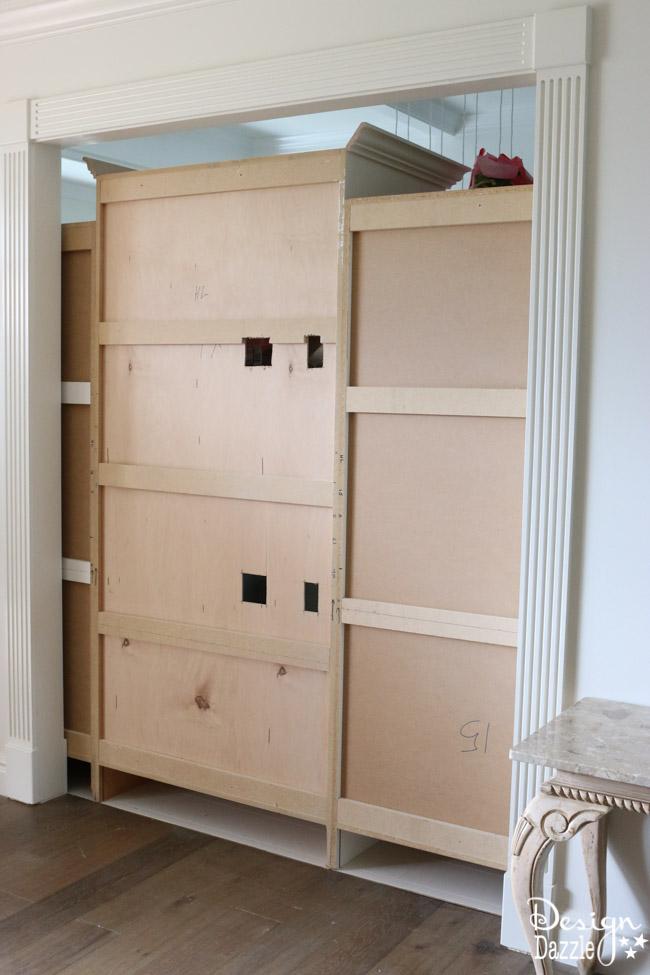 Entryway secret room sliding wall -7