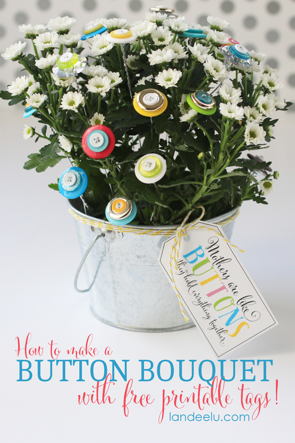 Make a Mother's Day Button Bouquet