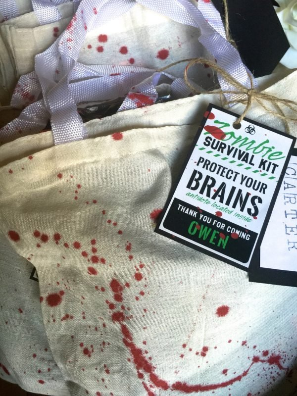 zombie party gift bags