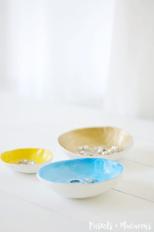 Air Dry Clay Jewelry Bowls gift idea