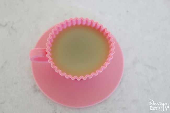 """Make a """"cupcake"""" shape lotion bar with natural ingredients. Fun way to add lotion to dry skin. Design Dazzle"""
