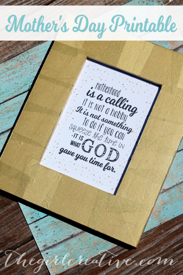 Mother's Day Quote for Framing