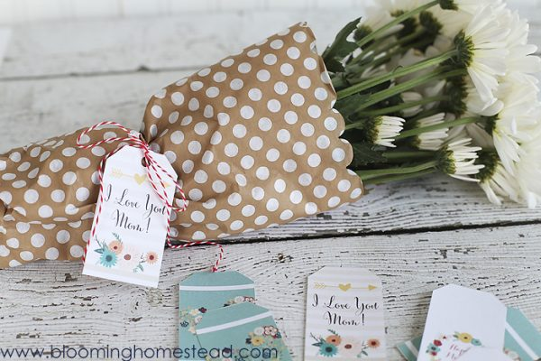 Printable Mother's Day gift tags.