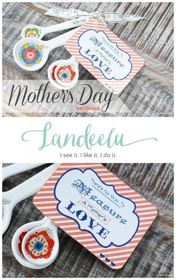 Mother's Day Printable Tags and gift idea.